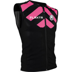 Flaxta Behold Gilet Protection du dos Adolescents, black/bright pink